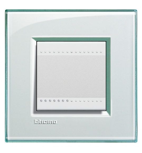 LNA4802KA Cover plate 2 M Aquamarine Living Light Bticinio