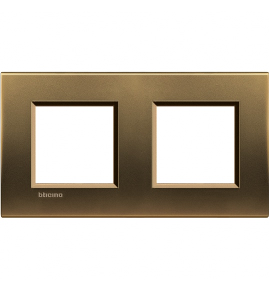 LNA4802M2BZ Cover plate 2+2 M Bronze Living Light Bticnio