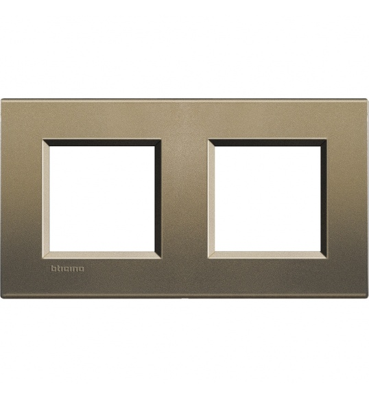 LNA4802M2SQ Cover plate 2+2 M Metal Living Light Bticnio
