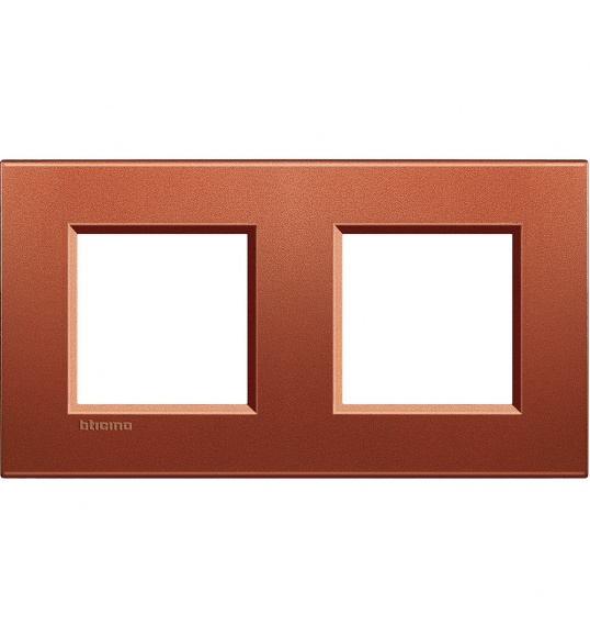 LNA4802M2RK Cover plate 2+2 M Brick Living Light Bticino