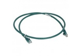 051858 Patch cord/user cord RJ 45 - Cat.6 - U/UTP unscreened -green 1M