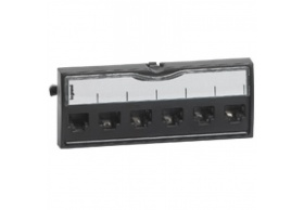 "033591 Blanking plate for 19"" patch panel LCS² - black"