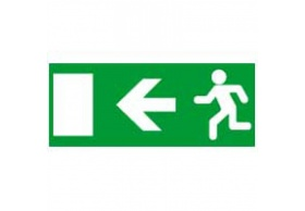 660865 Label - for emergency lighting luminaires - exit door on left - 310x112 mm