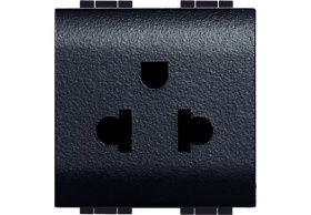 L4126 Socket 2P+E (EURO-US) 2MD Anthracite Living Light