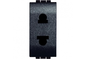 L4125 Socket 2P (EURO-US) 1MD Anthracite Living Light