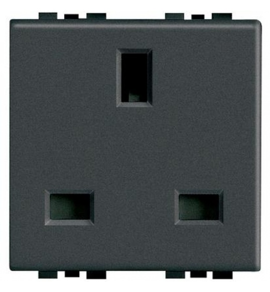 L4150 Socket 2P+E (BS) 13A 2MD Anthracite Living Light