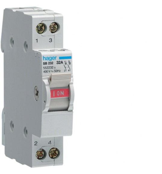 SB232 Double Pole Switch Disconnector | Components4Automation