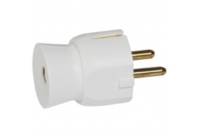 050315 Male plug 2P+E straight white