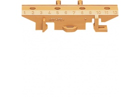 KZ014 Mounting base f. brass terminals, brown